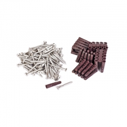 Box of 100 Screws & Plugs (for wood & concrete)