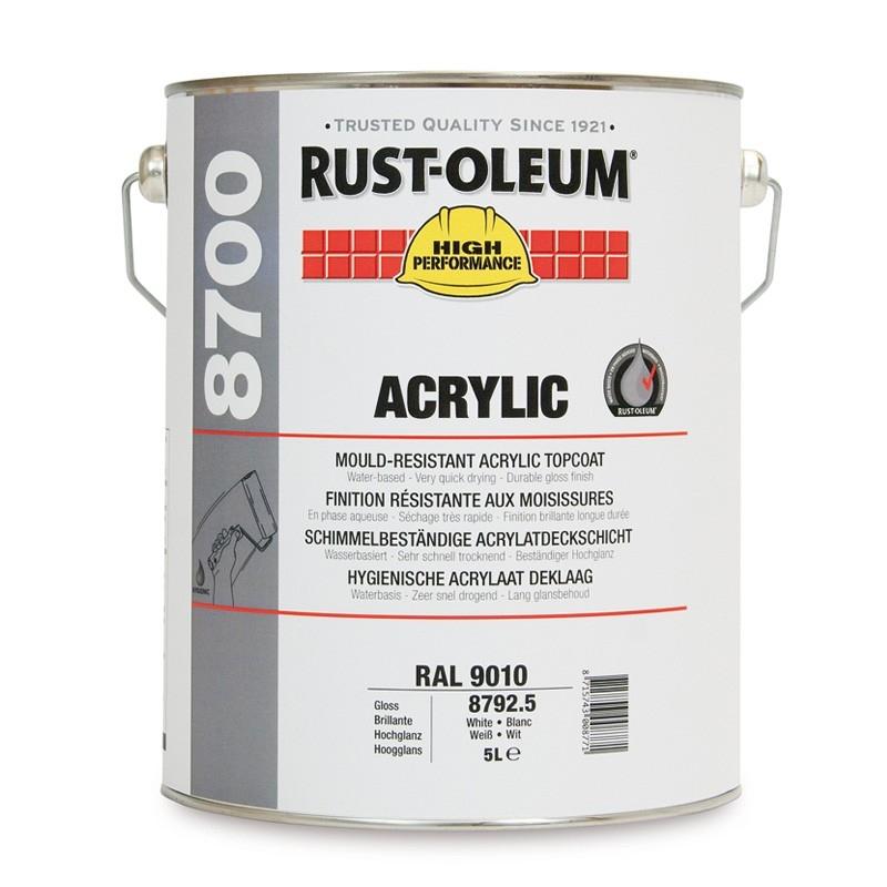 Rust-Oleum 8700 Mould Resistant Hygiene Acrylic Topcoat