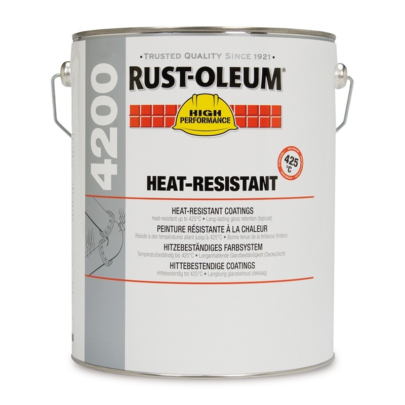 rust oleum 4200 heat resistant topcoat rawlins paints. Black Bedroom Furniture Sets. Home Design Ideas