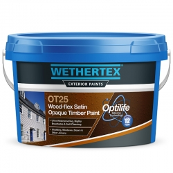 Wethertex OT25 Wood-Flex Satin Opaque Timber Paint