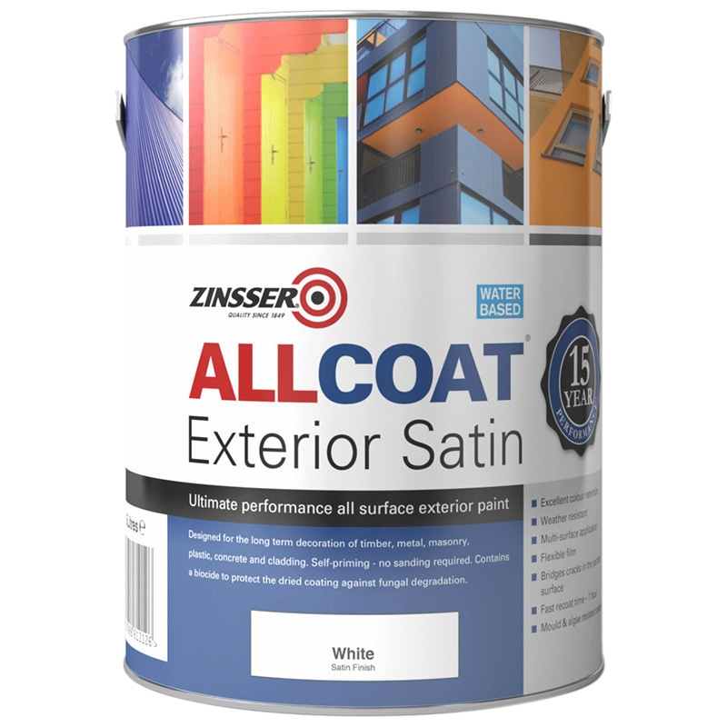 Zinsser allcoat exterior satin 200 colours rawlins paints for Exterior water based paint