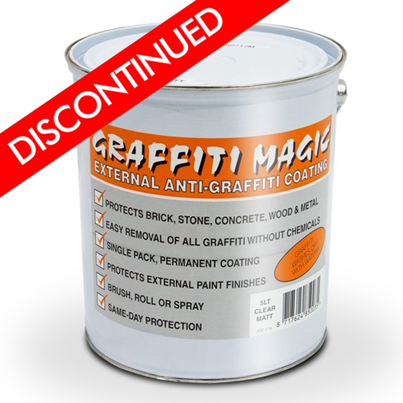 Anti Graffiti Clear Coat For Floors : Graffiti magic clear anti coating rawlins paints