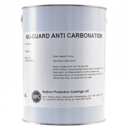 Nu-Guard AC Coating is a specially-formulated acrylic solution for use on masonry and concrete to protect against carbonation, a