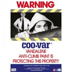 Coo-Var Vandalene Deterrent Signs