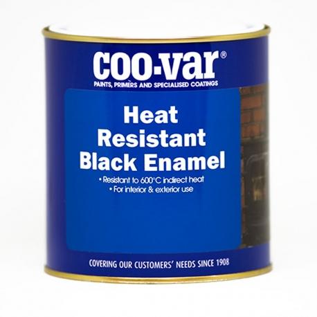 Coo-Var Heat Resistant Satin Black Enamel