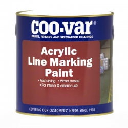 Coo-Var Acrylic W/B Road Line Paint