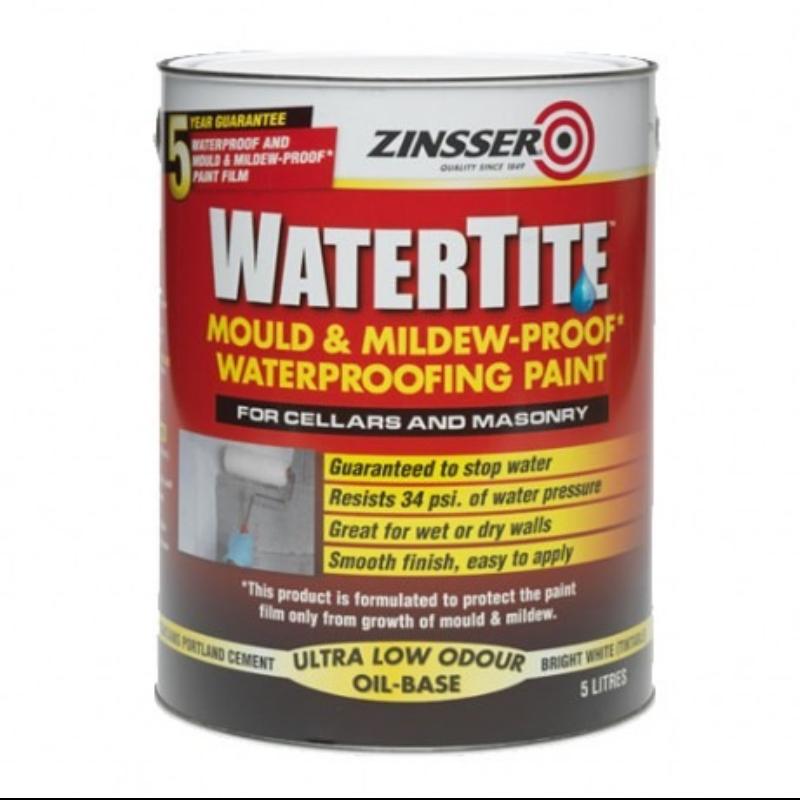 Zinsser Watertite Waterproofing Paint Amp Anti Mould
