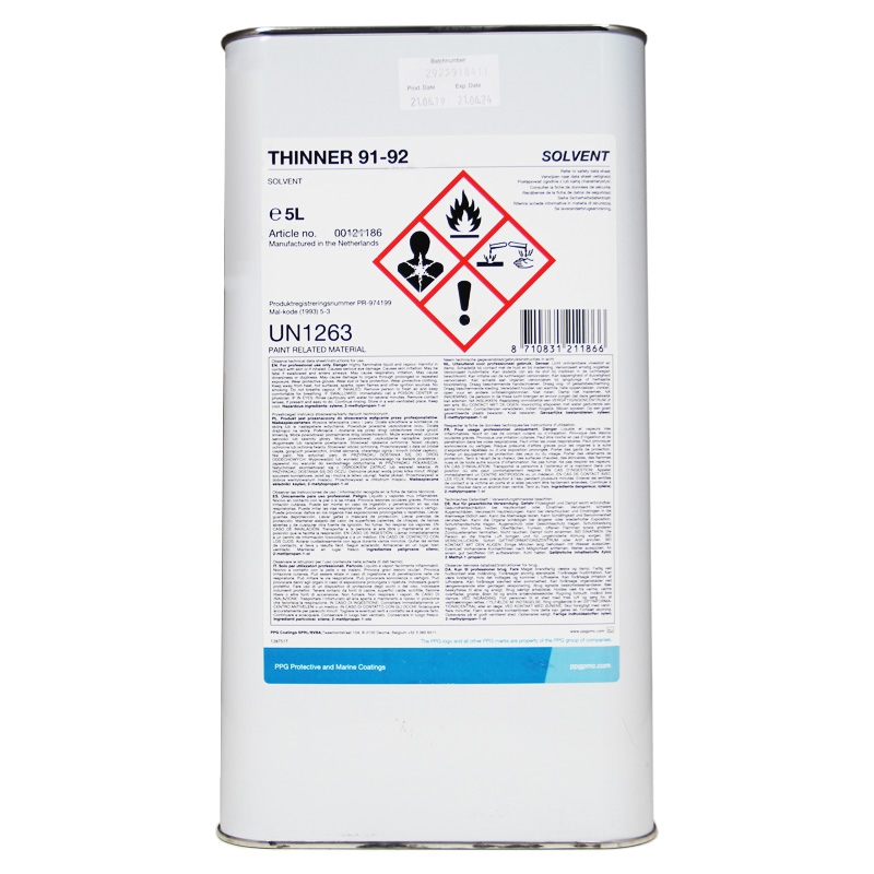 Ppg Thinner 91 92 Paint Thinner Rawlins Paints