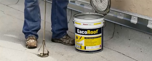 Mixing GacoPro Roof Coating