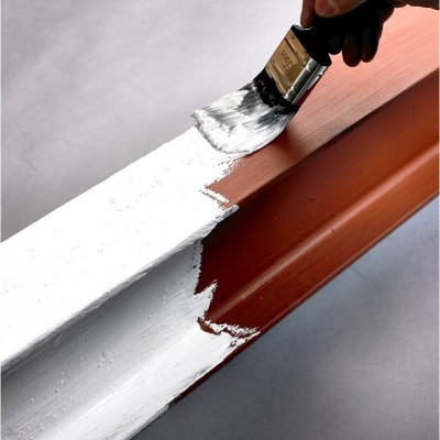 Applying Intumescent Paint To Treated Steel