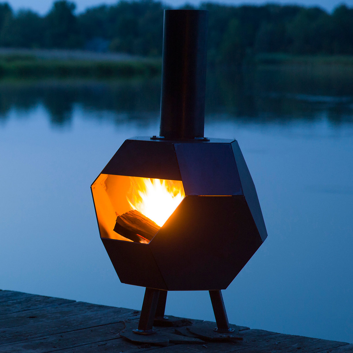Chiminea at Water