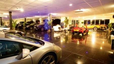 A higher end garage showroom
