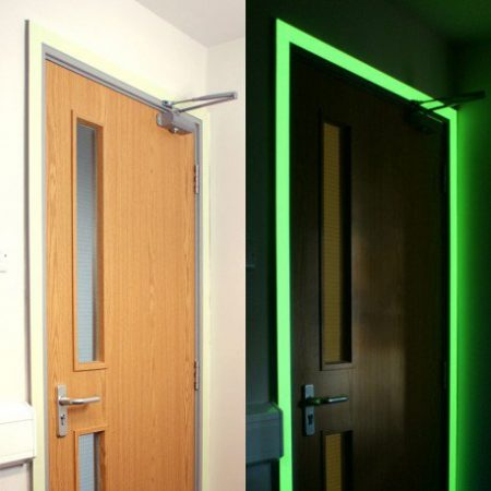 Glow in the dark tape is ideal for using around fire exits