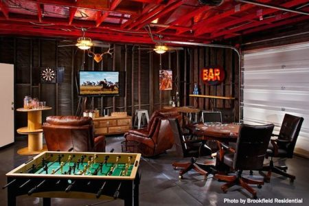 A stylish man cave
