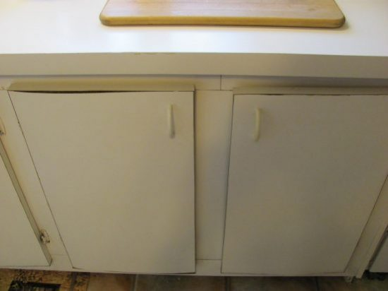 Repairing damaged kitchen cupboard doors