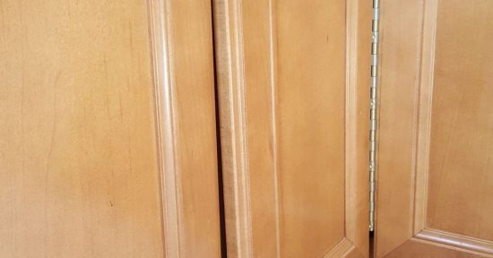 Misaligned kitchen cabinet doors