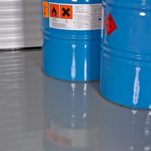 Rawlins Paints' 310 Chemically Resistant Floor Paint for resin flooring
