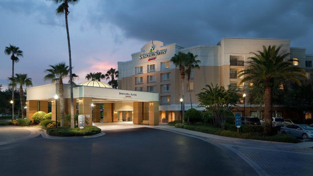 Hotel tarmac driveway
