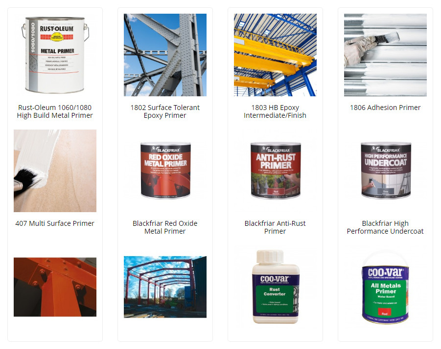 Commercial metal primers for workplaces