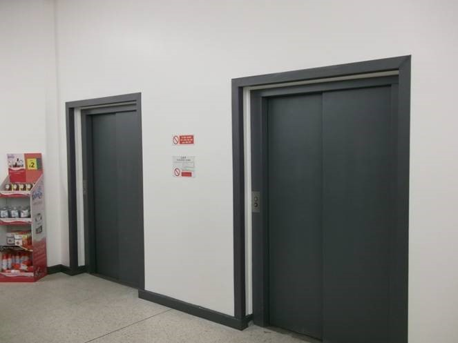 Painting lift doors