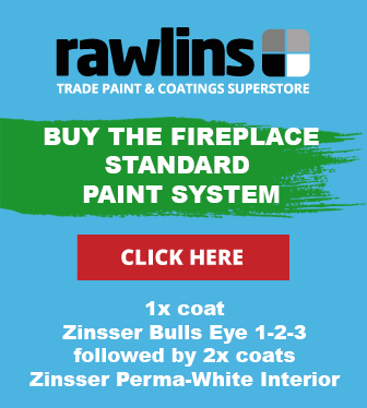 Painting the Walls around a Fireplace or Multi Fuel Stove
