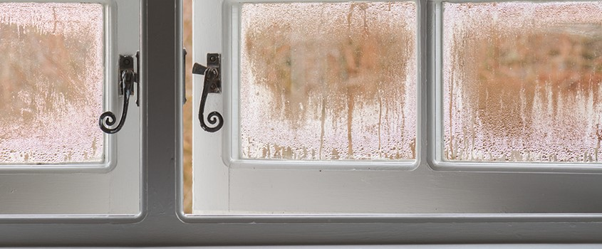 Condensation can be solved by opening windows and improving insulation